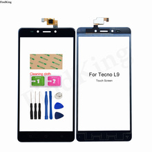 Touch Screen For Tecno L9 Touch Screen Front Glass Digitizer Touch Panel Glass Sensor Adhesive