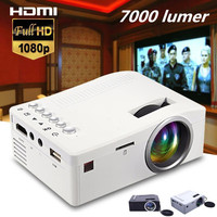 UC18 HD 1080P Mini Projector 1200lms Micro Portable Led Projector LCD Display Technology Video Projector Support AV VGA USB Home