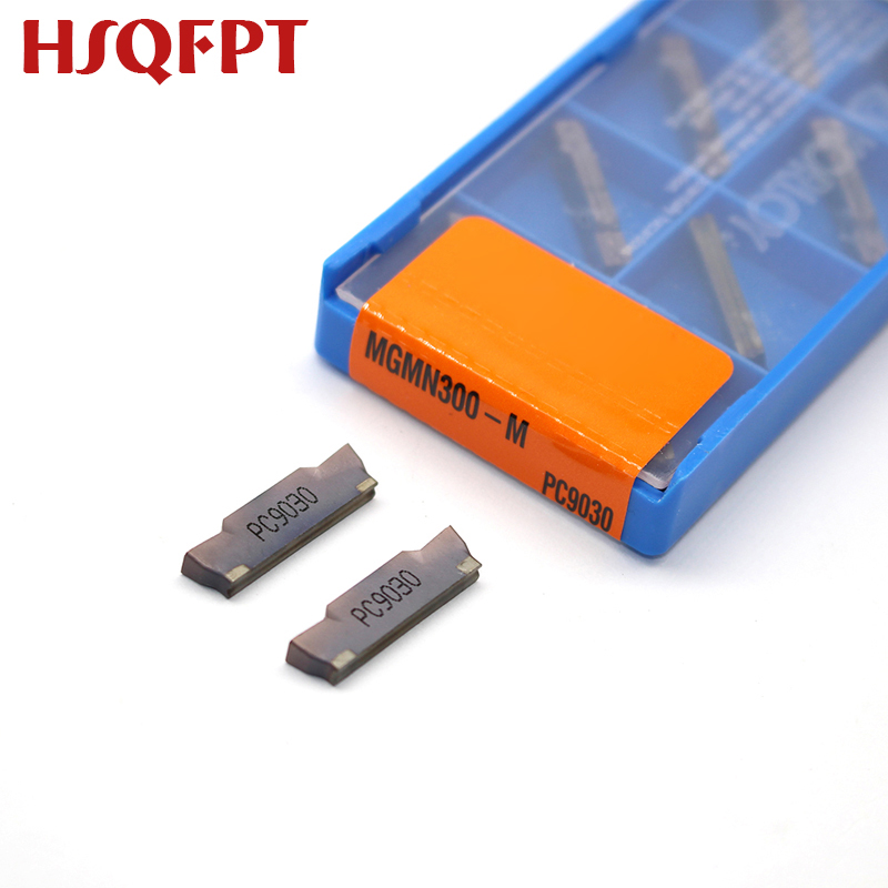 10PCS MGMN300 M NC3030/NC3020/PC9030 3mm Grooving Carbide Inserts MGMN300-M Lathe Cutter Turning Tool Parting And Grooving Tool