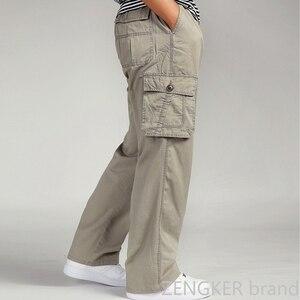 Image 2 - Spring and autumn men loose big size XL straight pants oversize elastic waist trousers casual pants men 6XL 5XL 4XL 3XL