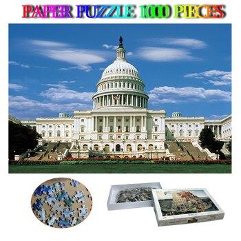 The Capital  washington DC Paper 1000 Pieces Jigsaw Puzzles USA Famous Buildings Adults Relax Puzzles Toys 1000 Pcs Puzzle Games