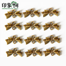1Pcs 20 มม.Retro Bronze Hole Bow-Knot Tie Charms สำหรับ(China)