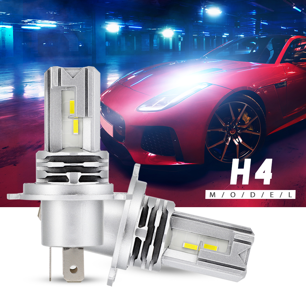 Mini Design Car Headlight LED Bulbs Lamps H4 H7 H11 9005 9006 HB3 HB4 LED Fog Lights 50W 8000LM 6000K White Water Proof D4