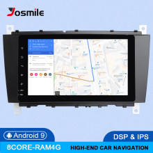 Dsp 4 gb 64g 2din android 9 rádio do carro dvd gps navi para mercedes/benz w203 w209 w219 A-C classe cls c180 c200 vito viano multimídia(China)