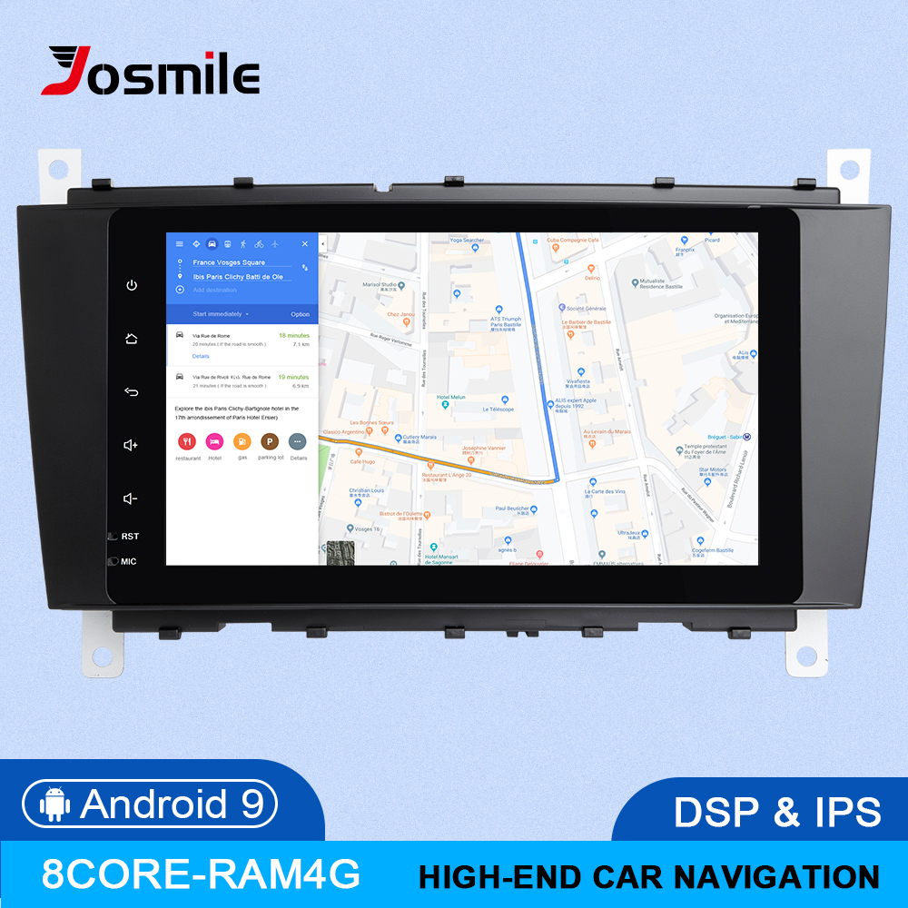DSP 4GB 64G 2Din Android 9 Car <font><b>Radio</b></font> DVD GPS <font><b>Navi</b></font> For Mercedes/<font><b>Benz</b></font> <font><b>W203</b></font> W209 W219 A-C Class CLS C180 C200 Vito Viano Multimedia image