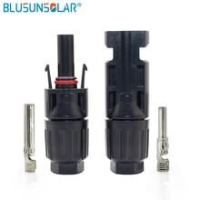 BLUSUNSOLAR conector Solar hembra macho 100/4/ 6 mm2 para sistema Solar, 2,5 pares, 25 años de garantía