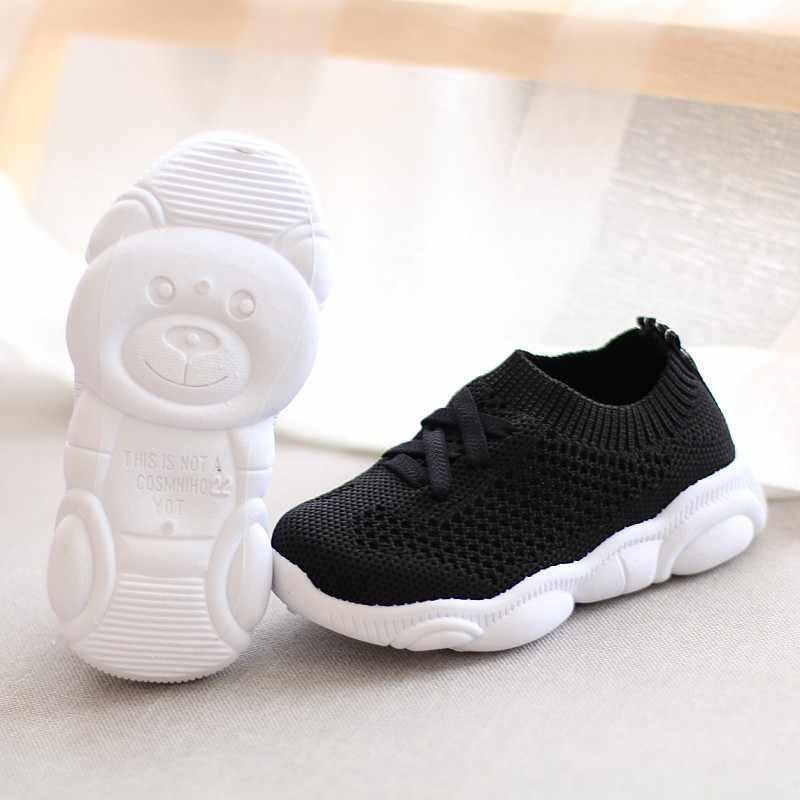 סניקרס ילדים נעלי נוגד החלקה רך תחתון תינוק נעל 2020 מקרית שטוח סניקרס נעלי ילדי גודל בנות בני ספורט נעליים