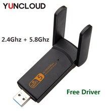 Двухдиапазонный usb wi fi адаптер yuncloud 1900 Мбит/с ключ