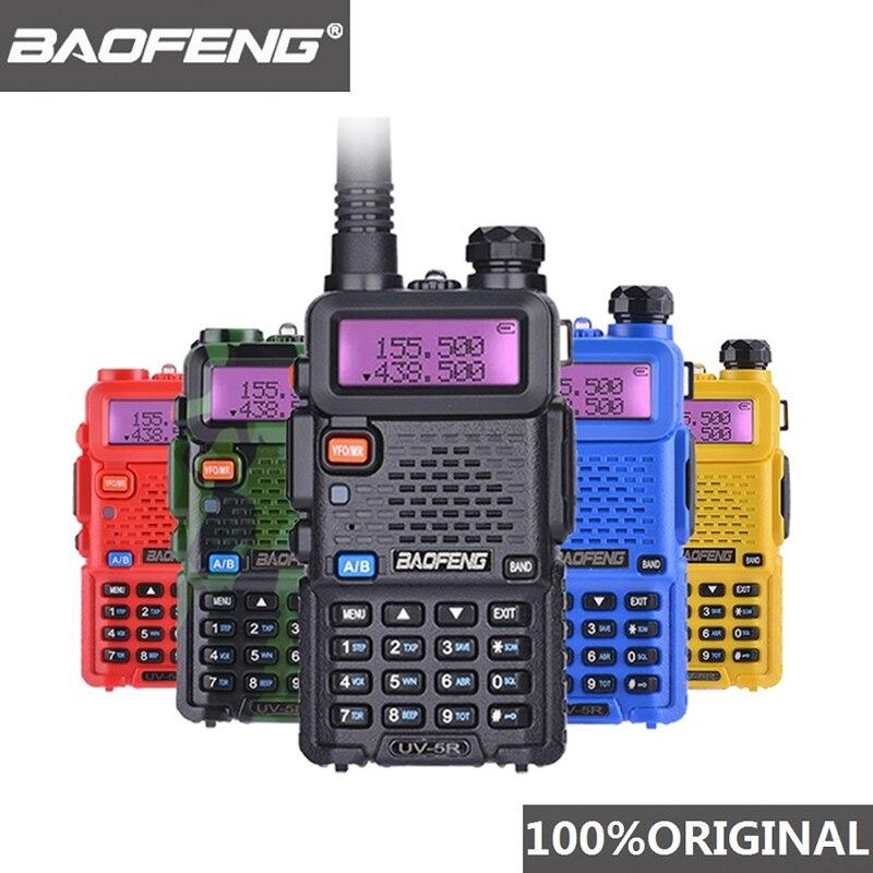 Baofeng UV-5R Walkie Talkie Dual Band Professional 5W UV 5R Ham Two Way Radio UV5R Handheld Hunting Radio Station HF Transceiver