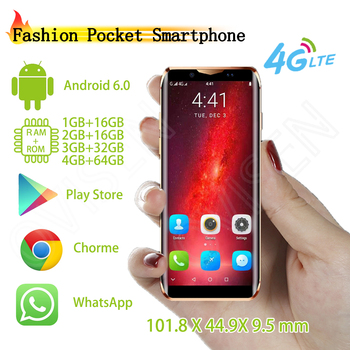 2019 Pocket Mobile Phone Anica i10s Luxury Metal Frame Smartphone Face ID WiFi GPS Google Play Store Unlocked Cellphone