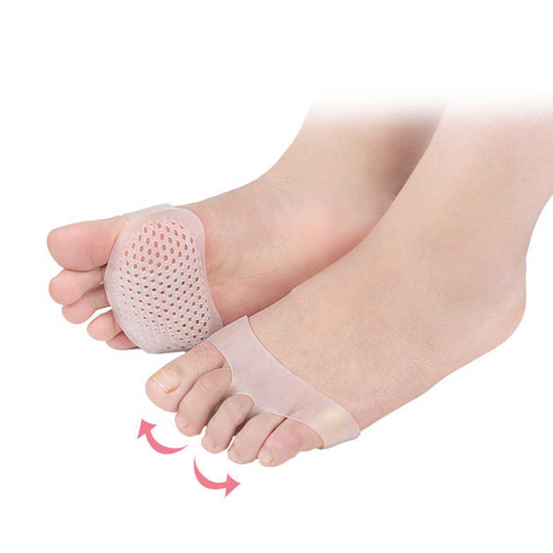 2 pcs Silicone Piede Avampiede Mezza Sole Solette Scarpe Cura Cuscino Pad Solette Soft-Gel Dita dei piedi Professionale