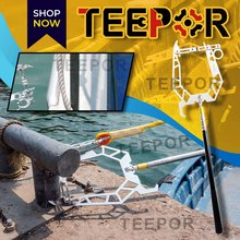 THE TEEPOR Multi-Purpose Dock Hook Easy Long-distance Threader Fishing Boat Hook Puller Rope Tightener Mooring Threader