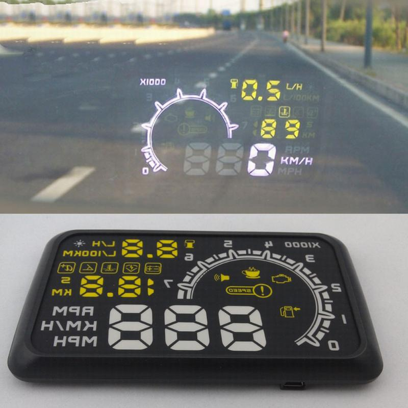 VODOOL Car HUD Head-up Display Speed Mileage Alam System Projection Display Help Novices Control Avoid Over Speed Hot Sale