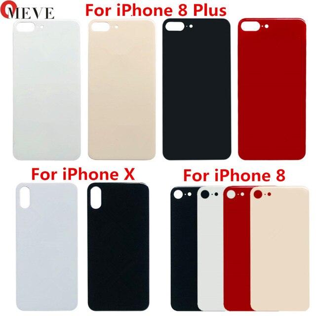 Piezas de Repuesto de cristal para iPhone 8 8plus, cubierta de batería, carcasa de puerta trasera para iphone X, 10 unids/lote