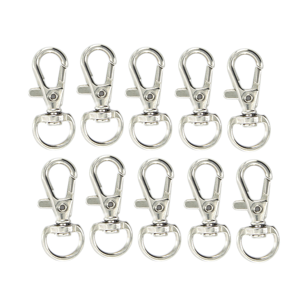 Kit 20pcs Alloy Swivel Carabiner With Keychain - Lobster Clasp Bag - Clasp Jewelry - Good Elasticity And Durability