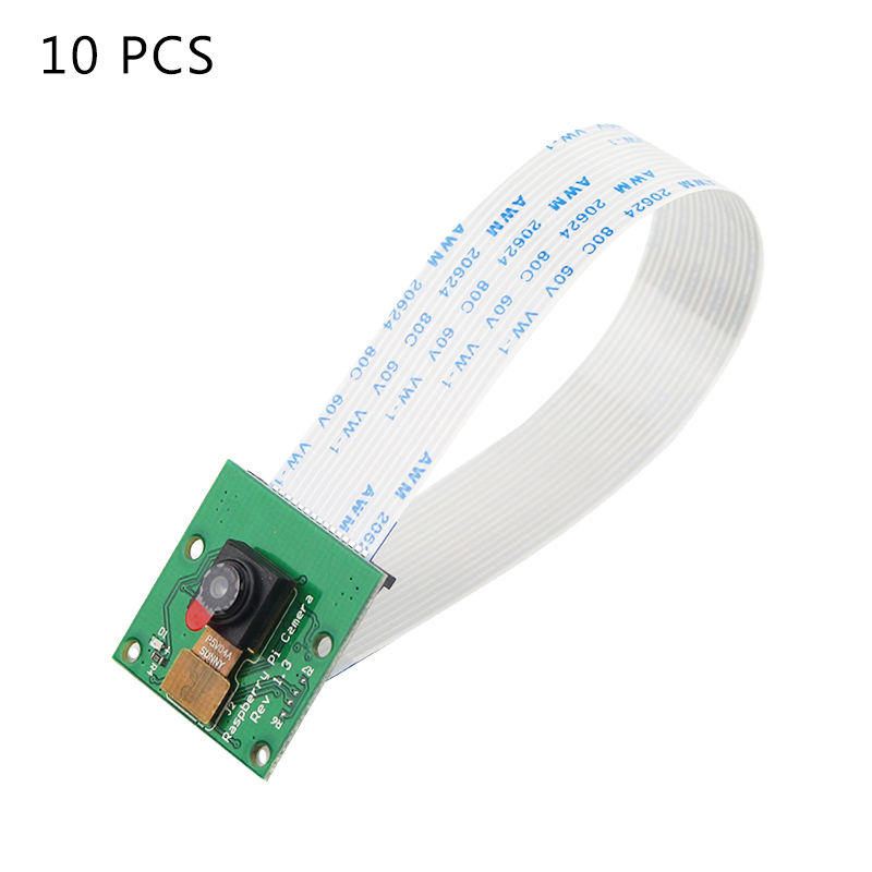 10 PCS Raspberry Pi Camera 5MP OV5647 Camera Optional Acrylic Holder Camera Flate Cable For Raspberry Pi 4 Model B 3B+/3B/Zero