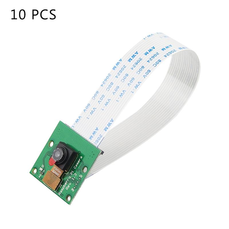 10 PCS Raspberry Pi Camera 5MP OV5647 Camera Optional Acrylic Holder Camera Flate Cable For Raspberry Pi 4 Model B 3B+/3B/Zero