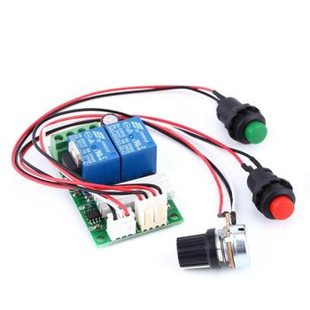 PWM DC Motor Speed Regulator Controller Board Adjustable Speed Control Reversible PWM Relay Module DC 6V-28V 12V 24V 3A 21kHz pwm dc 6v 12v 24v 28v 3a motor speed control switch controller