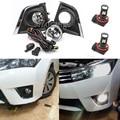 Светодиодный/Галогенные Противотуманные светильник s для Защитные чехлы для сидений, сшитые специально для Toyota Corolla 2014 2015 2016 туман светильн...
