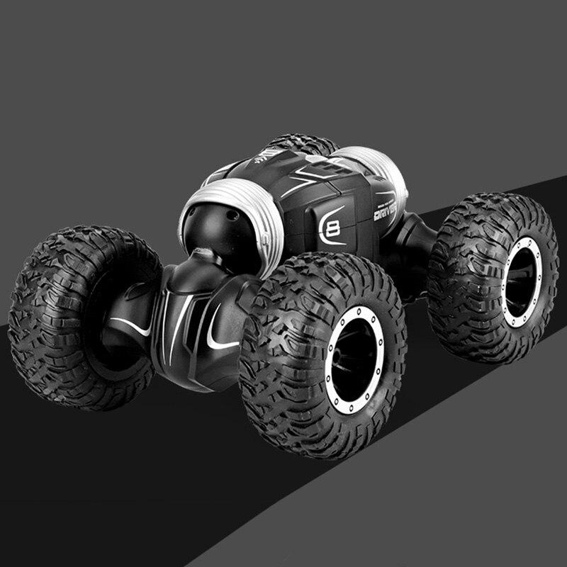 Oyuncaklar ve Hobi Ürünleri'ten RC Arabalar'de JJRC Q70 RC oyuncak arabalar Twister çift taraflı çevirme deformasyon tırmanma RC araba dublör kaymaz lastikleri 4WD yarış paletli araba oyuncak RTR title=