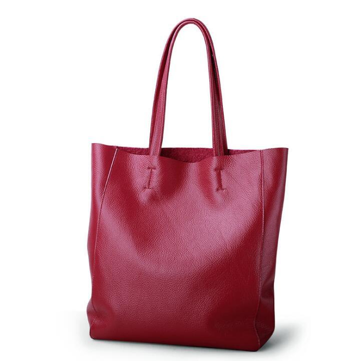Women Handbag Genuine Leather Shoulder Bag Cowhide Real Leather Bags Ladies Totes Cow Leather Handbags Bolsa Feminina