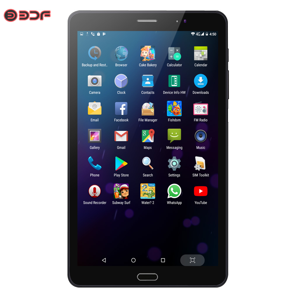 BDF 8 Inch Android 6.0 Tablet Pc Quad Core Google Play Tablets 3G Mobile Phone Call WiFi Bluetooth Dual SIM Cards