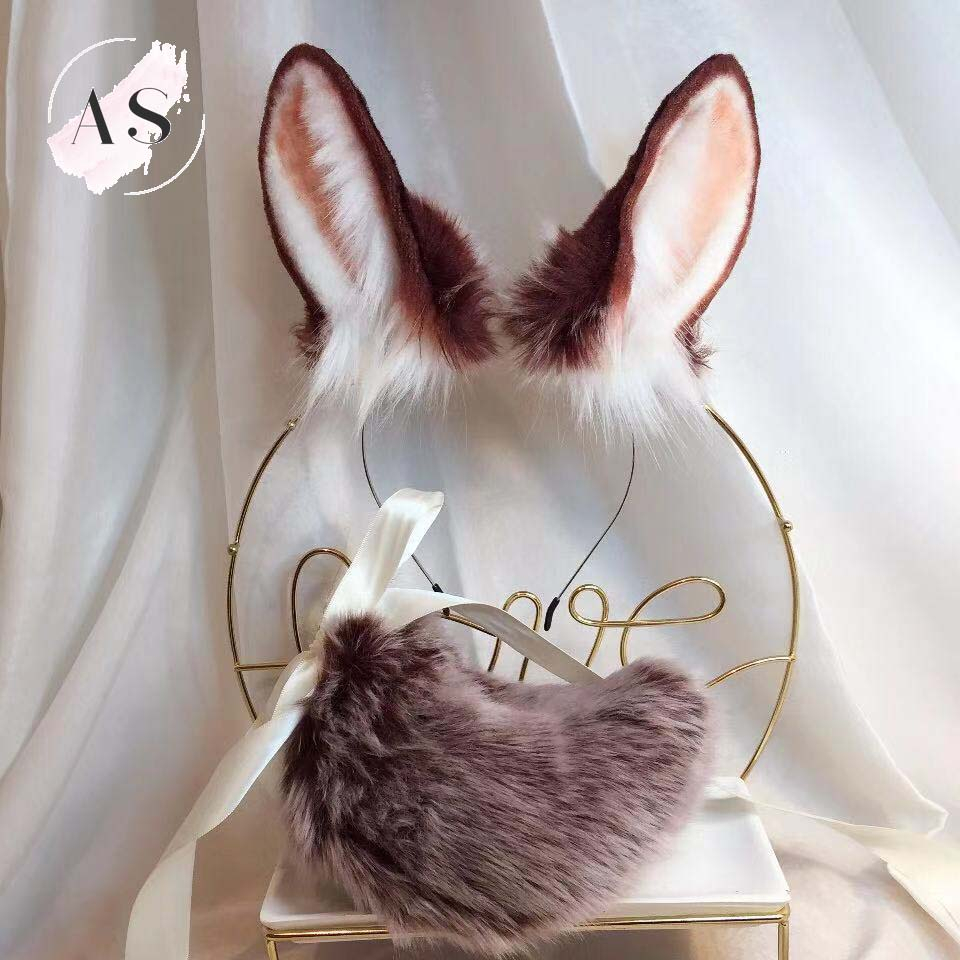 New Animal Red Rabbit Original Beast Ear Kc Simulation Beast Tail Wolf Ear Cat Ear Fox Ear Hairband Custom Cosplay