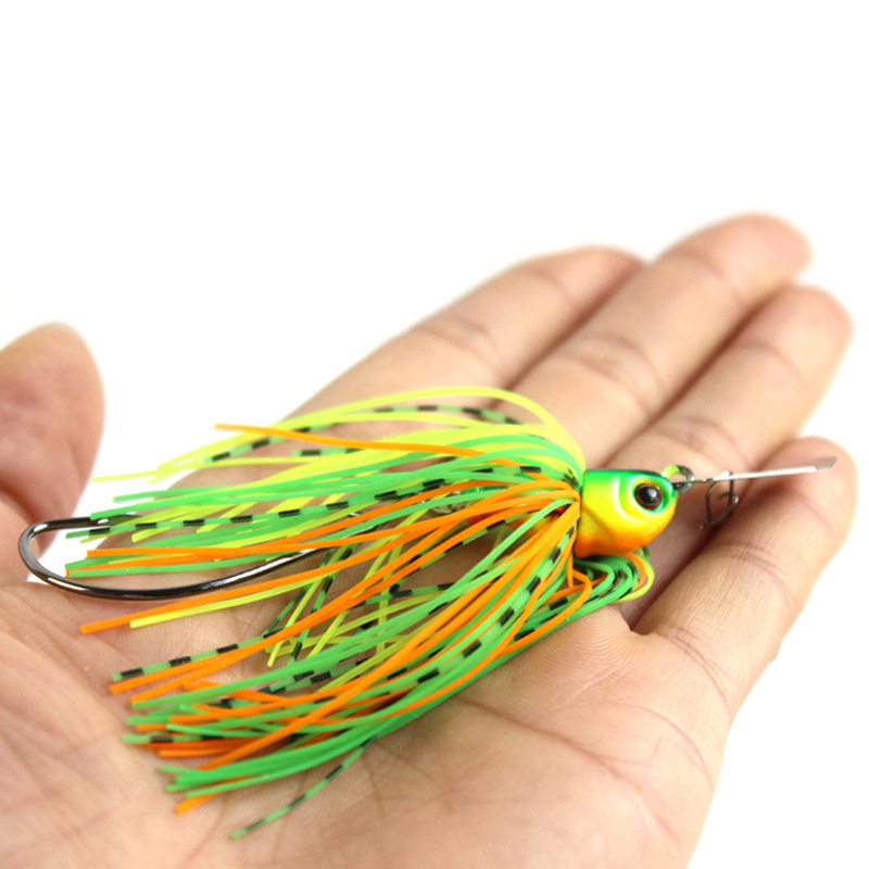 12G/15G spinner bait fishing lure Buzzbait chatter bait wobbler isca artificial rubber skirt Chatterbait for bass pike walleye-5