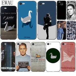 EWAU Prison Break Black Soft Silicone phone case for iphone 12 Mini X XR XS 11 Pro Max SE 2020 5 5s SE 6 6s 7 8 plus