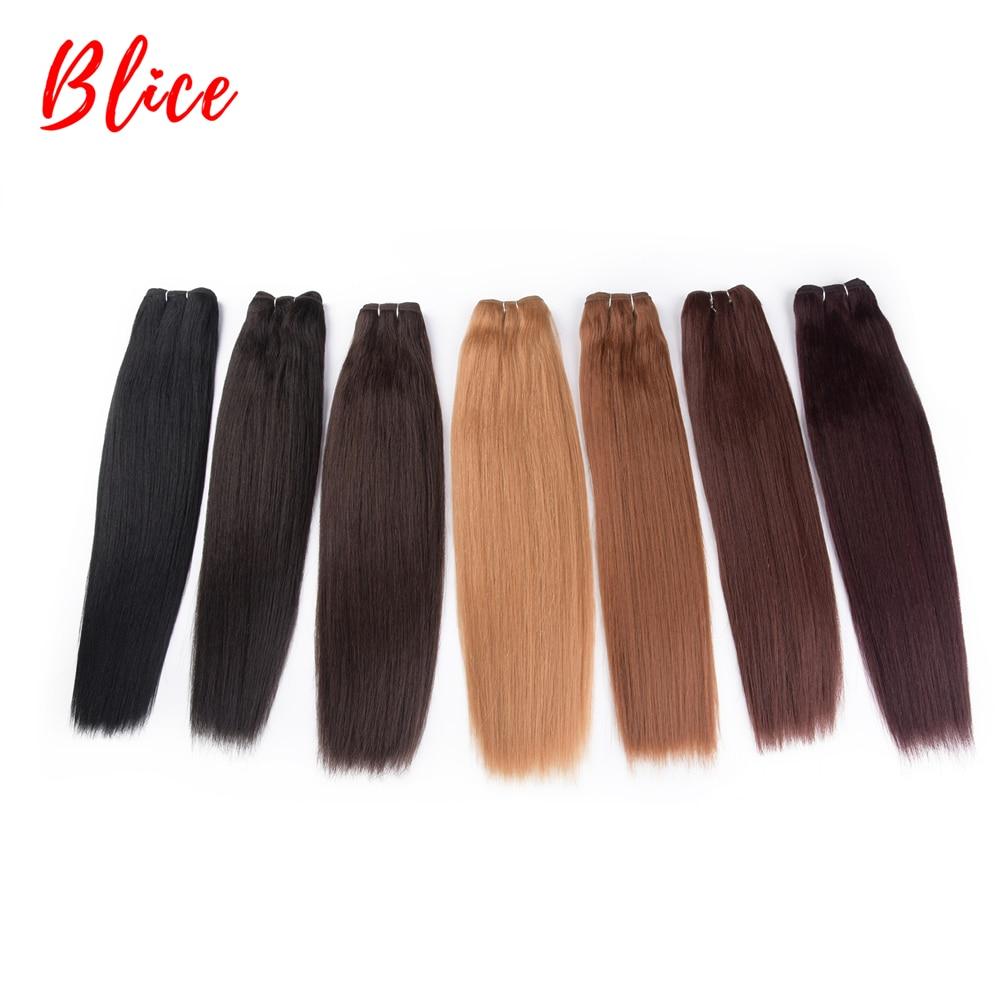 pacotes dupla trama extensões de cabelo sintético cabelo misturado