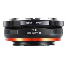 K F Concept FD to E Mount Lens Mount Adapter for Canon FD FL Mount Lens