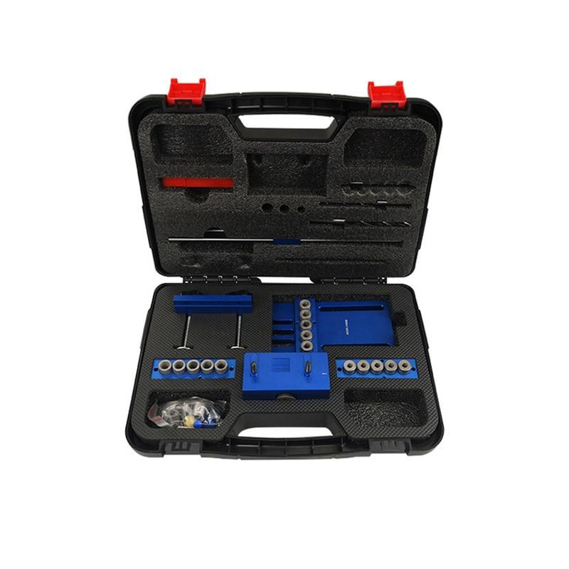 Купить с кэшбэком Dowel puncher 3-in-1 locator Woodworking hole opener DIY tool  herramientas para carpinteria