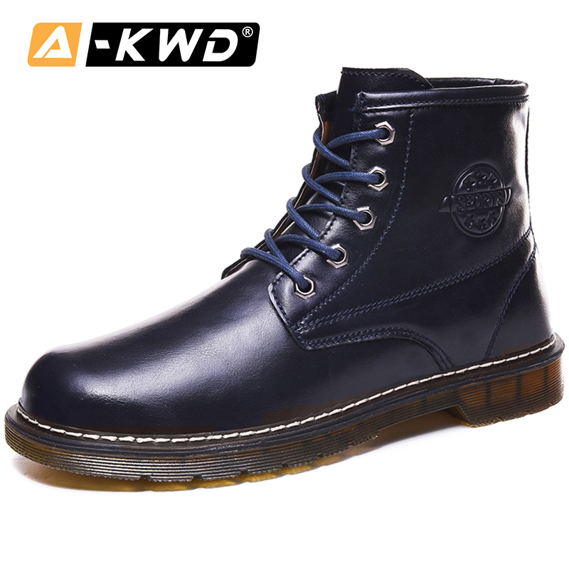 Fashion Black Brown Blue Green Ankle Boots High Top Tooling Shoes Men Chealsea Boots Men Mens Boots Casual Pu Leather Man Boots