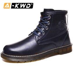 Moda negro marrón azul verde tobillo botas de alta calidad herramientas zapatos hombres Chealsea botas hombres botas Casual Pu cuero Hombre botas