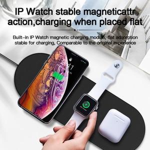 Image 3 - Amzish 20W rápido QI 3 en 1 cargador inalámbrico para iPhone 8 X XR XS 11 Max base de carga inalámbrica para el reloj de Apple 4 3 2 Airpods