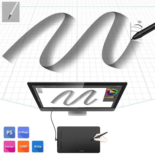 XP-Pen Deco 01 V2 10 ''Tavoletta Grafica Digitale Tablet per Android Finestre MAC 8 tasti di scelta rapida (8192 livelli di pressione) 5