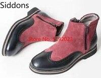 Women Ankle Boots Low Heels Pumps Shoes Boots Women Round Toe Zipper Luxury Shoes Women Designers D195