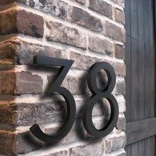 Señal flotante de número de Casa grande de 15 cm, números de puerta modernos, señalización de construcción para exteriores, números, Dirección de Casa BO