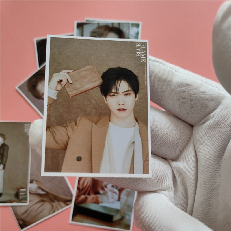 Kpop Astro Members Photo Card New Album BLUE FLAME Card  Cha Eun Woo Moo Bin HD Photocard Sticker 16pcs/set