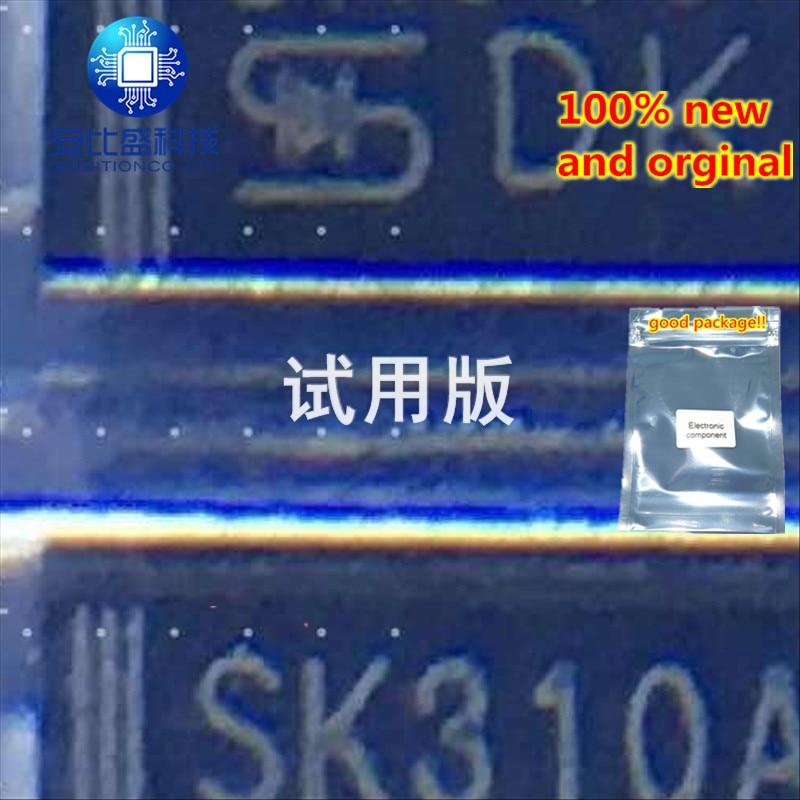 25pcs 100% New And Orginal SK310A 3A100V DO214AC Silk-screen SK310A In Stock