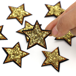 10pcs/lot Sequined Bling Star Patch Iron On Sew On star Stickers for Clothes Jeans Appliques DIY Coats Pants Badge Sewing Patch(China)