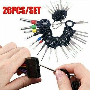 26pcs Terminal Removal Tool Car Electrical Wiring Crimp Connector Pin Extractor Car Terminal Removal Tools Pin Extractor(China)