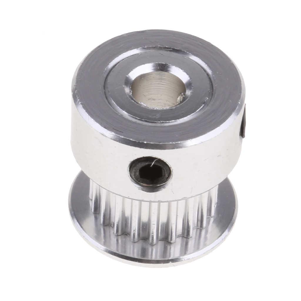 2Pcs 2GT 20T 5mm BORE อลูมิเนียมรอกเกียร์สำหรับ 3D เครื่องพิมพ์ Timing Belt