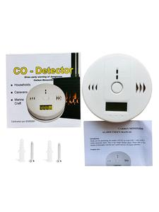 Gas-Sensor Alarm-Detector Poisoning Home-Security LCD CO 85db Independent Warning-Up