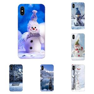 Soft Case Capa Cover For Samsung Galaxy Note 8 9 10 Pro S4 S5 S6 S7 S8 S9 S10 S11 S11E S20 Edge Plus Ultra Winter Snowman Snow