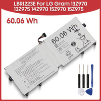 Original Replacement Battery 60.06Wh LBR1223E For LG Gram 13Z970 13Z975 14Z970 15Z970 15Z975 60.06Wh Laptop Batteries