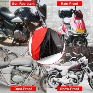 Image 2 - غطاء دراجة نارية كل موسم مقاوم للماء الغبار UV واقية في الهواء الطلق داخلي قفل ثقوب تصميم دراجة نارية المطر يغطي معطف D25