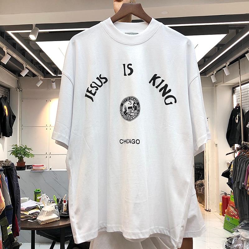 Jesus is King Chicago Logo Print Tops T-shirt  1