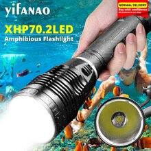 12000LM Xlamp Dive LED Flashlight XHP70 Brightest Diving Underwater Light XHP50.2 Scuba 300M Torch Waterproof 3T6 Lanternas