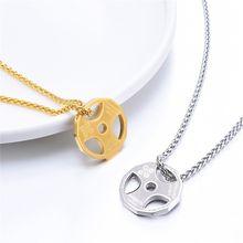 Ожерелье с подвеской в виде гантели для фитнеса мужское ожерелье